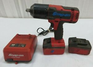 Snap On Ct8850 18v 1 2 Impact Wrench W 2x 4 0ah Batteries Charger