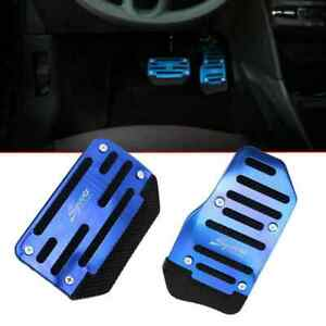 2x Blue Non slip Automatic Gas Brake Foot Pedal Pad Cover Car Accessories Parts