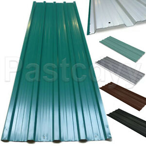12x Metal Roof Panels Galvanized Steel Roofing Sheets Shed Garage 50 8 X 17 7