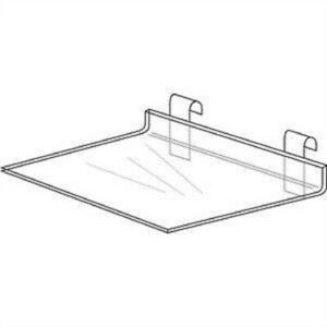 Store Display Fixtures New Deluxe Acrylic Gridwire Shelf 16 W X 12 D