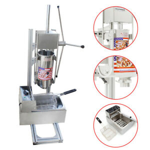 Stainless Steel 3l Donut Churro Maker Machine With 6l Electric Deep Fryer