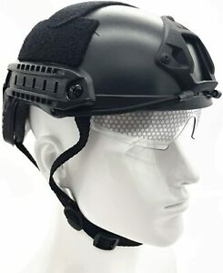 Airsoft Paintball Helmet Fast Tactical Helmet with NVG Mount and Side Rails $28.99