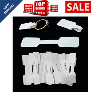 500 Blank Jewelry Id Sticker Price Tags Necklace Self Adhesive Ring Paper Labels