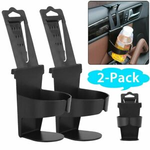 2x Universal Car Auto Truck Cup Holders Seat Back Drink Bottle Door Mount Stand