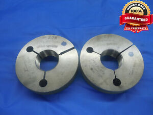 1 3 16 16 Un 2a Preplate Thread Ring Gages 1 1875 Go No Go Pds 1 1434 1 1383