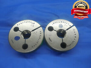5 8 24 Nef 3 Thread Ring Gages 625 Go No Go P d s 5979 5950 Unef 3 Check