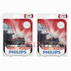 2 Pc Philips Low Beam Headlight Bulbs For Chevrolet Avalanche Camaro Caprice Ww