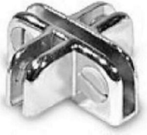 Store Display Fixtures 12 New Chrome 4 Way Adjustable Connectors For Glass Cubes