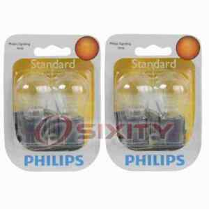 2 Pc Philips Front Turn Signal Light Bulbs For Chevrolet Blazer Camaro Px