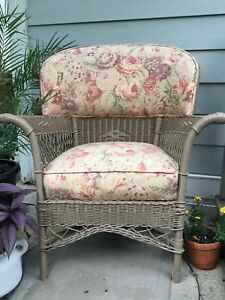 Antique Wicker Chair Bar Harbor Style