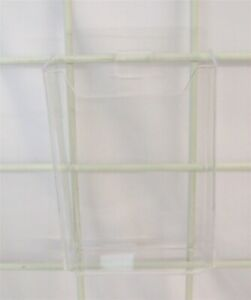 Store Display Fixtures 2 New 4 25 W X 7 H Molded Gridwall Brochure Holders