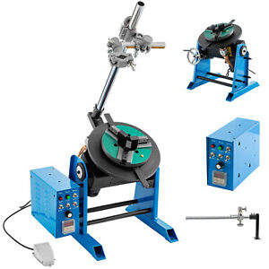 Vevor 50kg Rotary Welding Positioner Turntable Timing W 200mm Chuck 80w Motor
