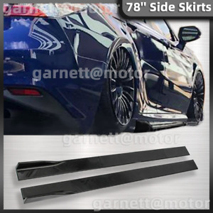 For Toyota Camry Side Skirts Splitter Extension Jdm Style Glossy Black 78 7