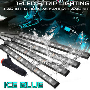 Ice Blue Color Glow Dash Footwell Interior Light 5050 Led Strip Lamp For Ford