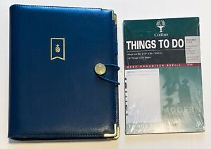 Emily Ley Navy Blue Simplified Planner 7 Ring Binder W Inserts Extras Refillable