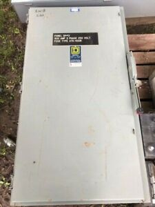 Square D H325n Fusible Heavy Duty 240v 400a 3p Safety Switch Disconnect