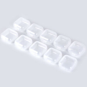 Plastic Box Small Container Storage 1.38x1.38 IN Craft Gadgets Beads Clear Case $5.49