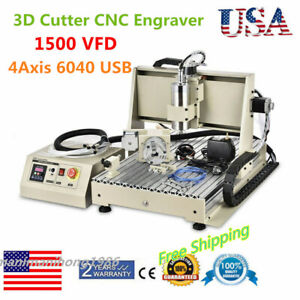4axis 6040 Usb 1500w Router 3d Cutter Cnc Engraver Metal Engraving Mill Machine