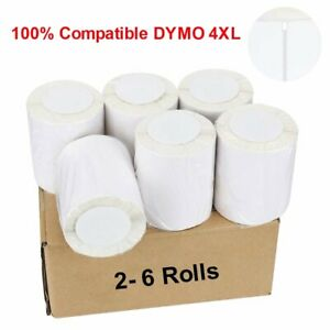 2 6 Roll Compatible Dymo 4xl Direct Thermal Shipping Labels 4x6 1744907 220 roll