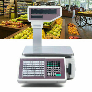 Digital Weight Price Computing Food Meat Produce Deli Fruit Scale 38 X 40 X 50cm