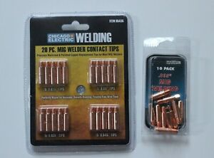 Chicago Electric Welding 30 Pc Mig Welder Contact Tips 65435 98108 New Sealed