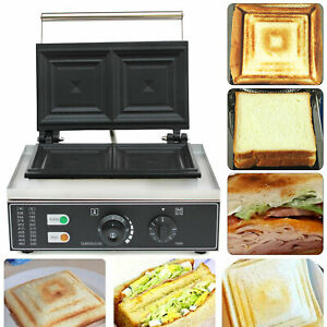 Commercial Electric 2 Slice Sandwich Press Grill Toaster Press Maker Nonstick