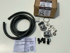 15715 Derale Engine Oil Filter Relocation Kit 1 2 Npt Ports With 3 4 16 Thread