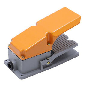 Heavy Duty Cast Aluminum Foot Switch 15a Spdt Electric Pedal Momentary New