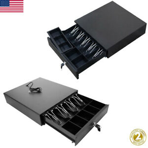 Cash Register Drawer Box 4 5 Bill 5 Coin Tray Compatible Works W pos Printers