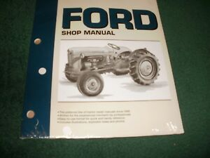 Ford Tractor Shop Manual F0 19 Model Naa jubilee Brand New