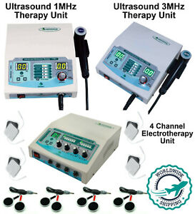 Ultrasound Therapy 1mhz 3mhz With 4 Channel Electrotherapy For Prof Home Use