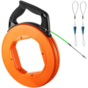 Vevor Fish Tape 3 16 In X 125ft Nylon Wire Cable Puller Electrician Reel Tape