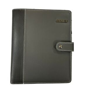 At A Glance Charcoal Organizer Binder Daytimer 7 Ring Dividers Plus