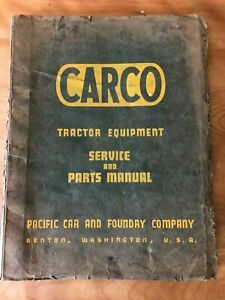 Carco Tractor Equipment Service Parts Manual Model 100 Skidder Winch 1968