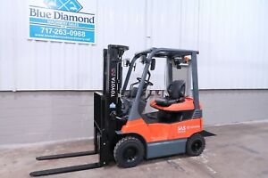 2015 Toyota 7fbh15 3 000 Pneumatic Electric Forklift 48 Volt Triple S s