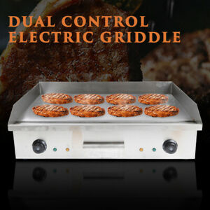 4400w Commercial Electric Countertop Griddle Flat Top Bbq Grill Restaurant 110v
