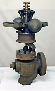 1 1 4 Waters Boston Vertical 2 Fly Ball Governor Steam Hit Miss Engine Cast Iron
