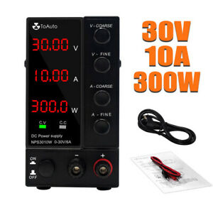 30v10a Dc Power Supply Variable 4 digit Lab Test Adjustable Switching Regulated