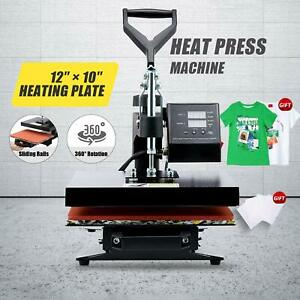 900w T Shirt Heat Press Machine W 12x10in Heat Pad For Phone Pillow Cases More