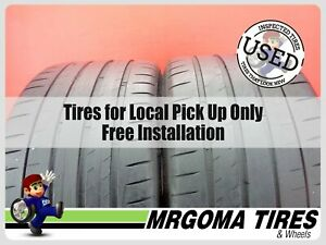2 Michelin Pilot Sport 4s Mo1 Xl 295 30 20 Used Tires 68 Rmng 101y 2953020