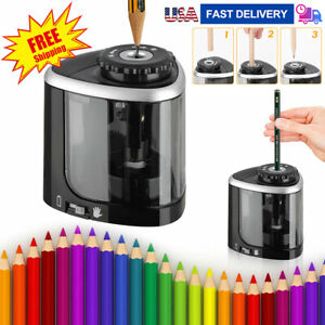 Electric Pencil Sharpener Desk School Office Portable Classroom For Kids Home Us