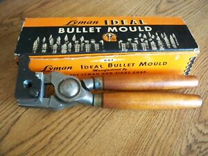 LYMAN IDEAL BULLET MOLD 437 RB WITH HANDLES AND ORIGINAL BOX. $72.00