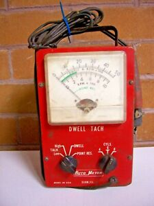Vintage Auto Meter Tests Dwell Tach Etc For Parts Or Repair