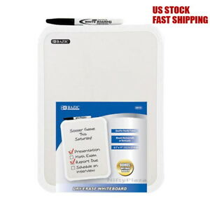 Dry Erase White Board Pad W dry Erase Marker Notice Message Board Wall Mountable