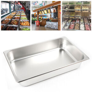 6 Pack Full Size 2 4 Deep 8 5 L 13l Stainless Steam Table Hotel Kitchen Pan
