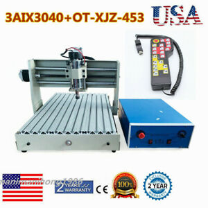 3 Axis Cnc 3040 Router Engraver Er11 400w 3d Milling Drilling Cutter handwheel