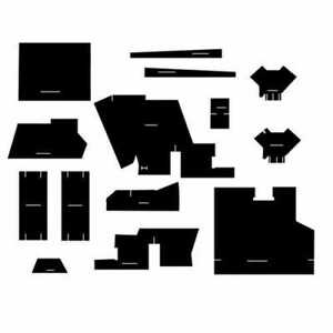 Cab Foam Kit With Headliner Black Compatible With Case 1570 1270 1370