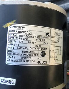 Century F48v80a01 Double Shaft Electric Motor New 19914m1