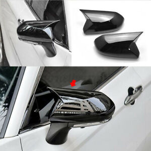 For Toyota Camry 2018 Glossy Black Rear View Side Rearview Mirror Cover Cap Trim