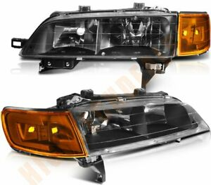 Headlights Assembly For 1994 1997 Honda Accord Front Left Right Sides Head Lamps